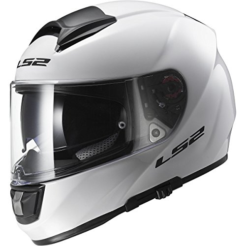 - LS2 Helmets Citation Solid Full Face Motorcycle Helmet with Sunshield (White, Large)