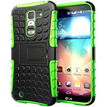 Hyperion Explorer 2-piece Premium Hybrid Protective Case / Cover for LG Optimus G Pro 2 (LG-F350) Cell Phone / Phablet (Fits all LG Optimus G Pro 2 (LG-F350) US and International models and carriers)2 Year NO HASSLE Warranty - GREEN