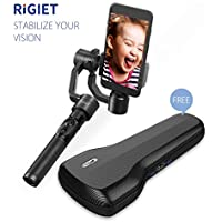 DOBOT Rigiet, 3-Axis Handheld Gimbal Stabilizer Auto-Tracking, Live Streaming, Slow Motion, Timelapse, Panorama iPhone 7 6 SE Samsung Galaxy S9+ S9 S8+ S8 S7 S6 Q2 Edge, New Version