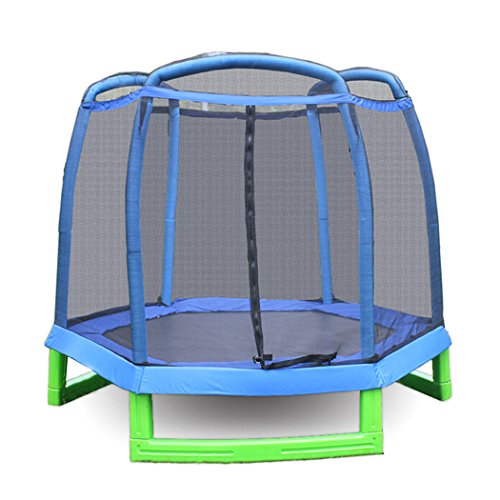 begorey Sport Jumping Fitness Trampolin mit Sicherheitsnetz Ausdauertraining 213 x 180cm Faltbar Gartentrampolin bis 80kg für Kinder Erwachsene Indoor/Outdoor