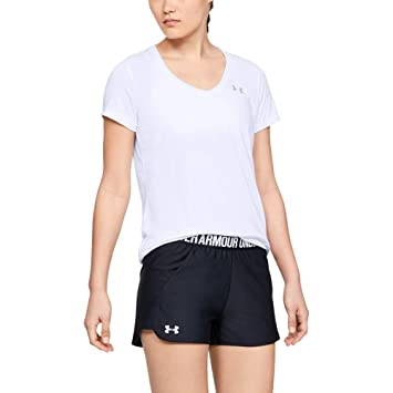6d1e9b93 Under Armour Women's Tech Ssv Gym T-Shirt Short Sleeve Light and Breathable  Running Apparel for Women