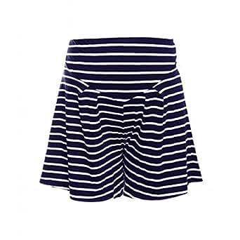 Heavenly Bump Women's Stripe Jersey Short - Navy & White Stripe 14 Navy Pattern