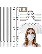 100 PCS Nose Bridge for Mask Nose Wire for Mask Aluminum Strips Nose Clips for DIY Face Mask Metal Aluminum Nose Bridge Strips Adhesive Back Sewing Crafts Handmade Accessories
