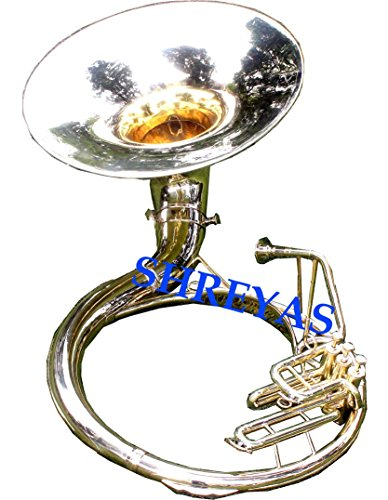 SHREYAS Bb FLAT BRASS SOUSAPHONE 21 TUBA WITH FREE CARRY BAG+MOUTHPIECE by SHREYAS