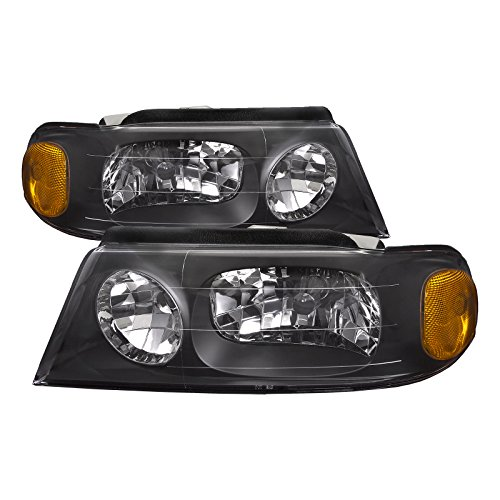PERDE Compatible with Lincoln Navigator Black Housing Headlights Headlamps Performance ()