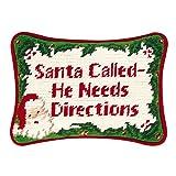 6 1/2'' x 9'' Needlepoint Pillow - Santa Called-He Nee