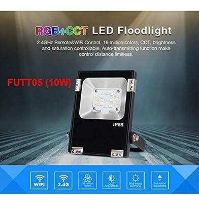 10W spotlight, United States : Mi Light LED Outdoor Floodlights 10W 20W 30W 50W Spotlight RGB CCT WIFI RF Remote RGBW waterproof LED outdoor lighting AC86-265V