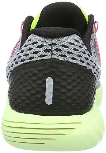Nike Herren Lunarglide 8 Laufschuhe Wolf Grau / Weiß / Volt / Gamma Blau