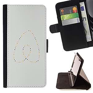 Momo Phone Case / Flip Funda de Cuero Case Cover - Perlas del corazón del oro azul minimalista - Motorola Moto E ( 1st Generation )