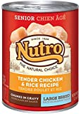 NUTRO Large Breed Senior Chicken and Rice Canned Dog Food, 12.5 oz. (Pack of 12)