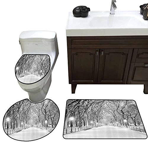 3 Piece Toilet Cover Set Winter Decor View