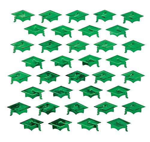 - Green Graduation Hat Confetti - Party Tableware & Table Decorations