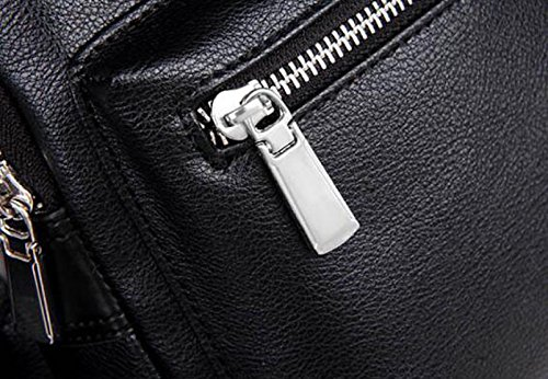 Bags Leisure Sports Zipper Messenger Dark Bag 's Black Fashion Men Outdoor Chest qAYxfpAw6