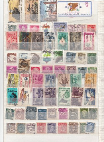 - 200 Pieces Worldwide Collectible Stamp Collection, All different,