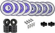 Labeda Millennium Gripper Roller Hockey Wheels, Ceramic Bearings, Choose Size/Color