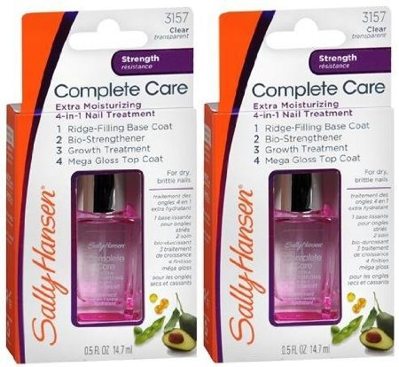 Sally Hansen Complete Care Extra Moisturizing 4-in-1 Nail Treatment STRENGTH Clear 3157 (PACK OF 2 BOTTLES)