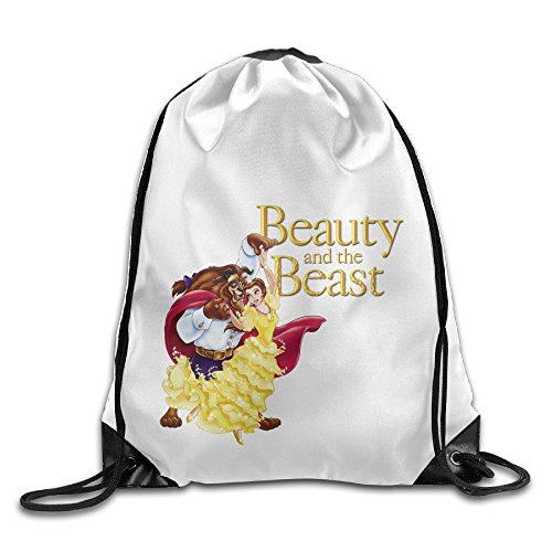 Bekey Beauty And The Beast Gym Drawstring Backpack Bags For Men & Women For Home Travel Storage Use Gym Traveling Shopping Sport Yoga Running