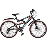 Hero RX2 26T 21 Speed Sprint Cycle with Disc Brake (Black/Red)