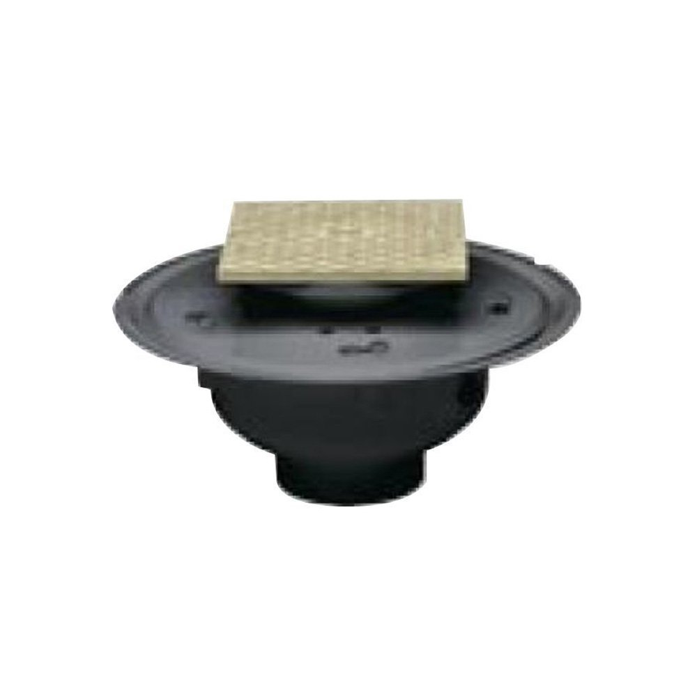 Oatey 84172 ABS Adjustable Commercial Cleanout with 6-Inch NI Cover and Square Ring, 2-Inch