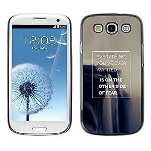 Be Good Phone Accessory // Dura Cáscara cubierta Protectora Caso Carcasa Funda de Protección para Samsung Galaxy S3 I9300 // fear inspiring success poster make it