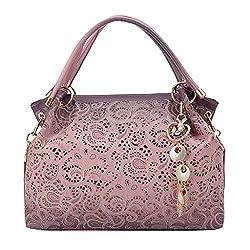 Rakkiss Womens Crossbody Bag Fashion Leather Handbag Openwork Carved Wild Messenger Bag Shoulder Bag Tote Bucket