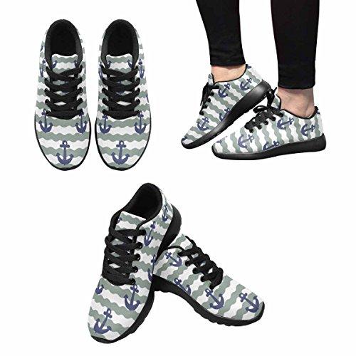 Interestprint Mujeres Jogging Running Sneaker Ligero Go Easy Walking Comodidad Deportes Running Zapatos Multi 4