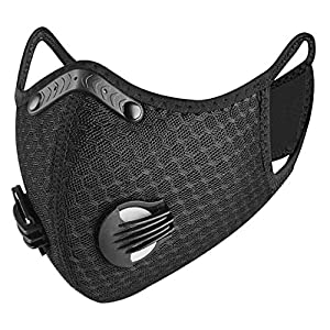 ReachTop Sports Dust Mask, Reusable Half Face Mask with Activated Carbon Dustproof Filters and Valves Respirators Mask…