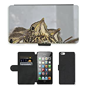 PU LEATHER case coque housse smartphone Flip bag Cover protection // M00129409 Joven Birds Socket Thrush // Apple iPhone 5 5S 5G