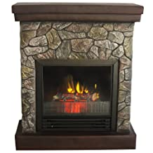 Quality Craft MP4100-26 1250-Watt Electric Fireplace Heater with Faux Stone Surround