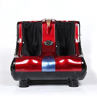 A-SRHY Massage des jambes et des pieds avec chauffage et massage des rouleaux , red