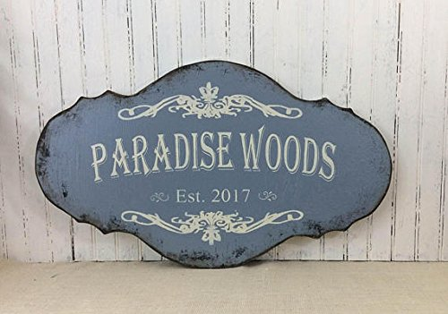 """Personalized sign, custom decor, realtor housewarming gift, beach cottage plaque, retirement getaway condo sign,house naming sign 24"""" x 14"""""""