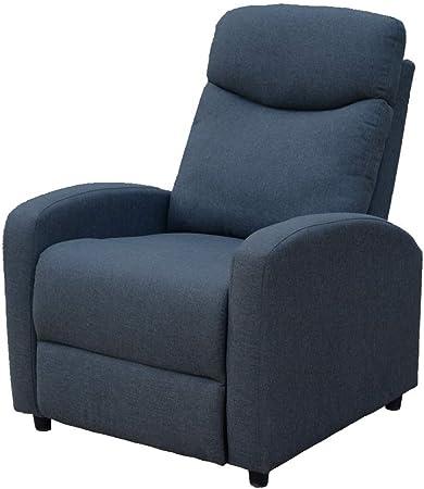 Trustiwood Singe Recliner Chair Linen Fabric Sofa Reclining