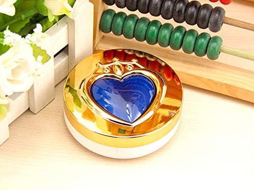 HSDDA Caja de Lentes de Contacto con diseño de corazón, Estuche para Lentes de Contacto para Viajes al Aire Libre, Carcasa para lentillas, Azul, 7.6x3cm: Amazon.es: Deportes y aire libre