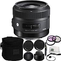 Sigma 30mm f/1.4 DC HSM Art Lens for Canon Bundle Includes Manufacturer Accessories + 7 PC Accessory Kit
