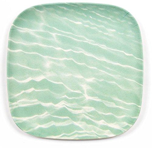 "Bamboozle 7.5"" Bamboo Salad Plates Dinnerware (4 Plates) (Ocean Print)"