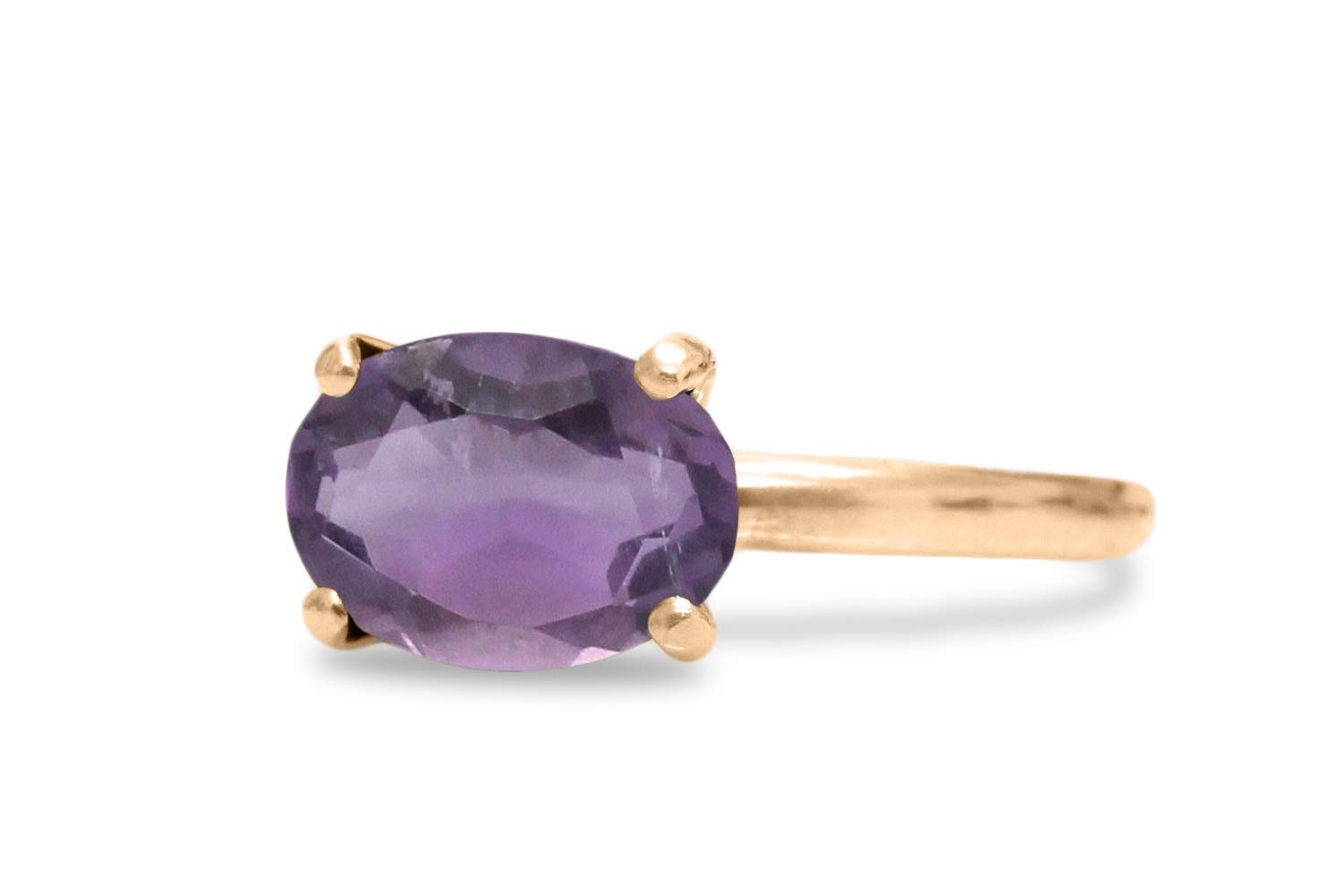 Faceted Amethyst Ring Handmade Jewelry 21 Sterling Silver Ring ...