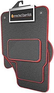 Grey with Red Trim Connected Essentials CEM650 Car Mat Set for Navara Premium 2001-2005
