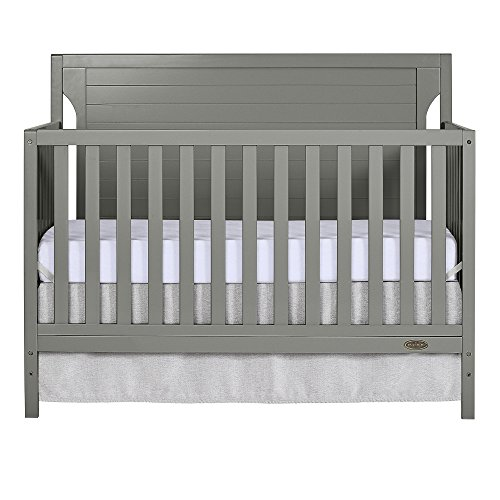 Dream On Me Cape Cod 5 in 1 Convertible Crib, Storm Grey