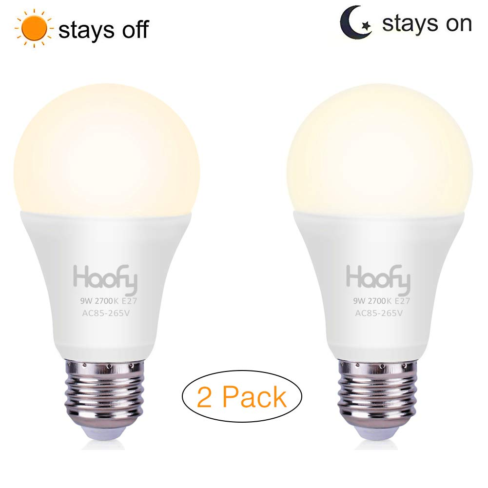 Lampadina da crepuscolo a alba, Haofy smart sensor LED