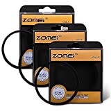 Zomei 67mm Star-Effect Cross Starburst Twinkle Lens + 4 Points Star Filter + 6 Points Star Filter + 8 Points Star Filter Set for Canon Nikon