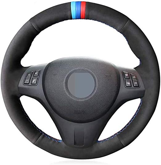 DIY Hand stitched Black Leather Breathable and non-slip DYBANP Steering Wheel Cover,For BMW M Sport F30 F31 F34 F07 F10 F11 F25 F32 F33 F36 X1 F48 X2 F39 X3