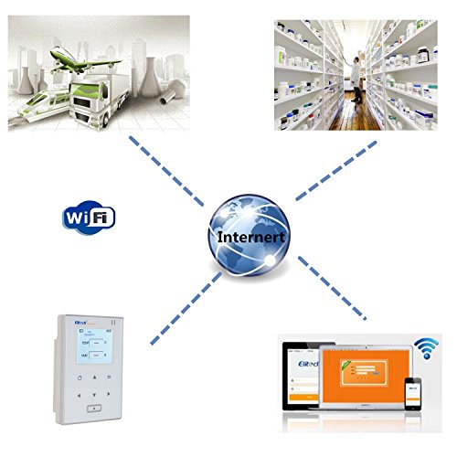 Temperature and Humidity Data Logger Wifi Temp Monitor Recorder Wireless Refrigerator Thermometer Elitech RCW800 WIFI by Elitech (Image #3)