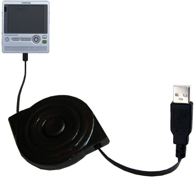 USB Power Port Ready retractable USB charge USB cable wired specifically for the Samsung Yepp YH-999 and uses TipExchange