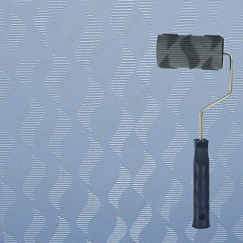 - Embossing Roller, Texture Paint Roller Tool Art Paint Texture Diatom Mud Printing Texture Wall Film Roller Liquid Wallpaper Embossed 4 Inch