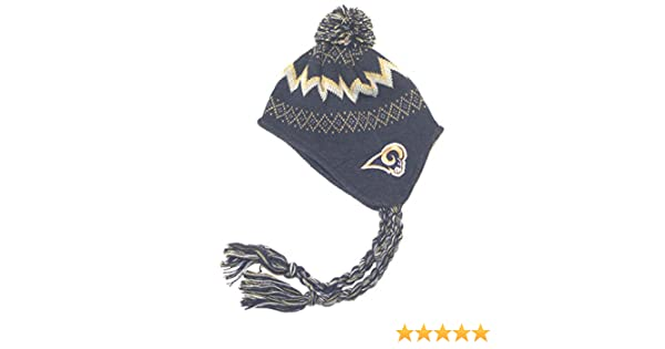 c69adfbca Amazon.com   NFL St. Louis Rams Toddlers Knit Pom-Pom Hat (One Size)    Infant And Toddler Hats   Clothing