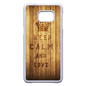 Personalized Durable Cases Samsung Galaxy S6 Edge Plus Cell Phone Case White Kggjd Keep Calm And Love Protection Cover