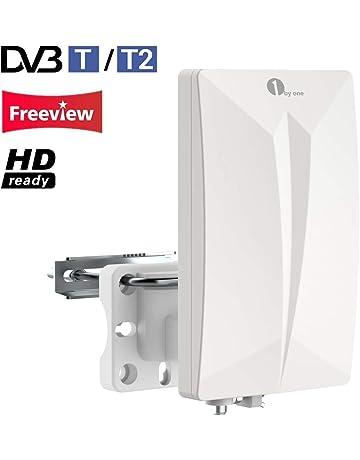 1Byone Antena TV TDT Interior / Exterior para HDTV /Televisión DVB-T / DVB