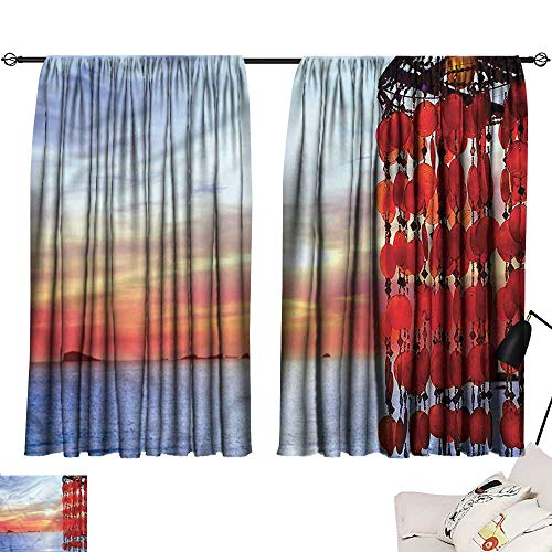 Aurauiora Curtain tiebacks Beach,Dreamcatcher Ibiza Sunset 84