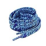 Set of 4 Sport Shoes Lace Suitable for Sport shoes Canvas shoes [Blue]