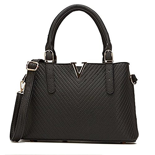 Celaine-Womens-Handbags-V-Series-PU-Leather-Shoulder-Tote-Bag-Large-Storage-Gold-Buckles-and-Zipper